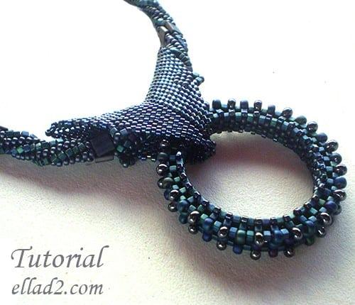 Tutorial de Abalorios collar Blue Variety Ellad2