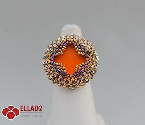 Tutorial de abalorios anillo Alisia de Ellad2