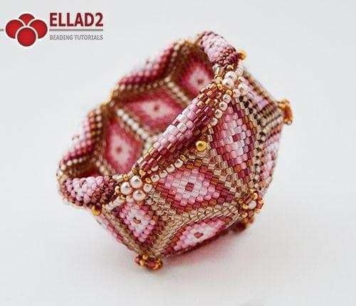 Tutorial de abalorios bordado tazón de Ellad2