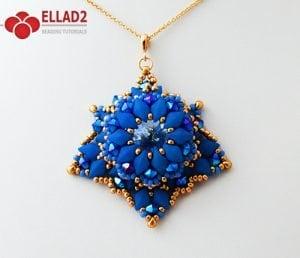 Tutorial Colgante Davina con Diamonduo cuentas de Ellad2