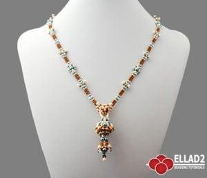 Tutorial de abalorios Collar Amalia de Ellad2