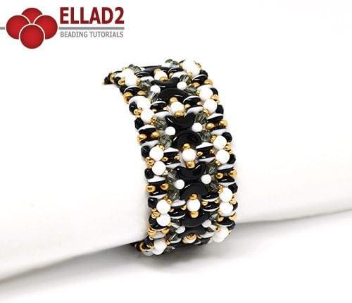 Tutorial de abalorios Pulsera Kiara de Ellad2