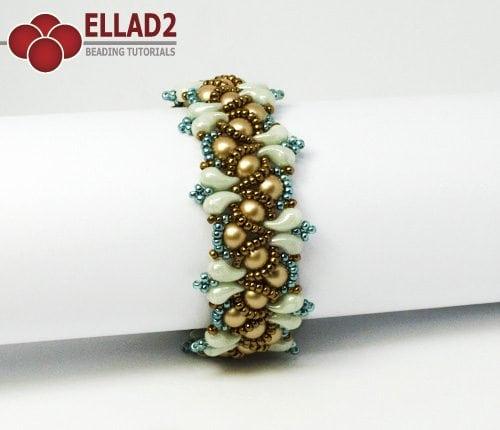 Esquema Pulsera Wave con Zoliduo cuentas de Ellad2