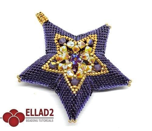 Tutorial Estrella Centelleante punta peyote de Ellad2