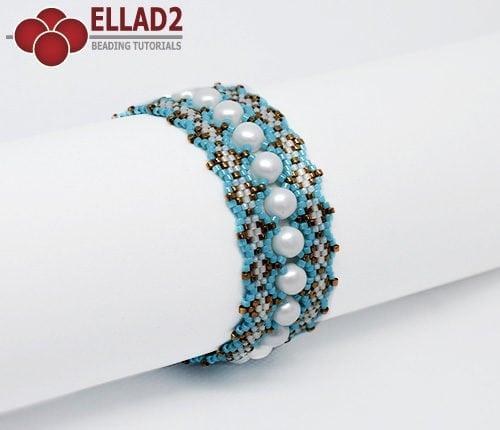 Tutorial de abalorios Pulsera Sara en puntada peyote de Ellad2