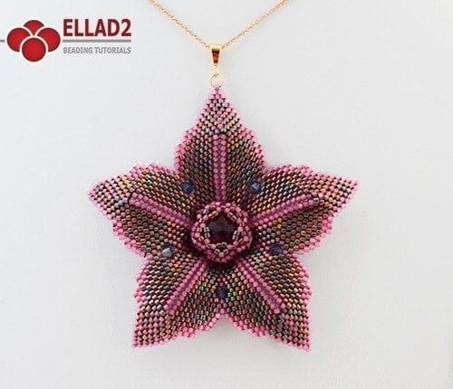 Tutorial Pendente Clematis Fiore di Ellad2