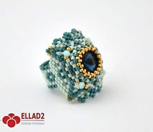 Tutorial di perline Anello Mint di Ellad2