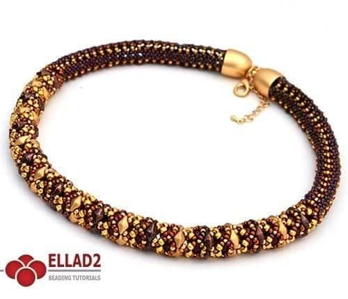 Tutorial di perline Diamond Duo Girocollo di Ellad2