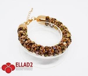 Schema di perline Braccialetto Zola di Ellad2