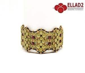 Tutorial di perline Oliveta Braccialetto con pellet perline di Ellad2