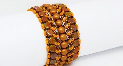 Tutorial di perline Nebula Braccialetto con Honeycomb perline di Ellad2