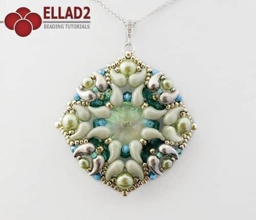 Schema di perline Zuzu Pendente con Zoliduo perline di Ellad2