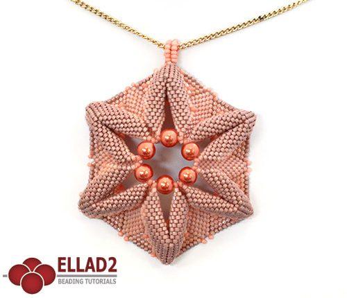 Schema di perline Pendente Corallo di Ellad2