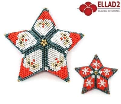 Schema di perline Ornamento di Babbo Natale di Ellad2