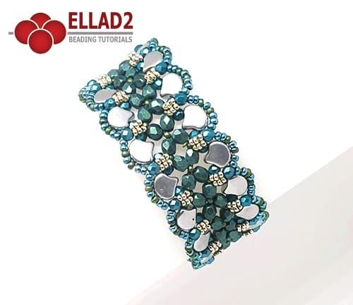 Schema di perline Ginko Braccialetto di Ellad2