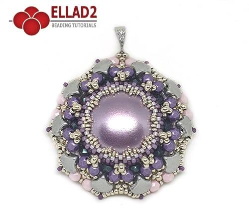 Schema Ciondolo Fiore Viola di Ellad2