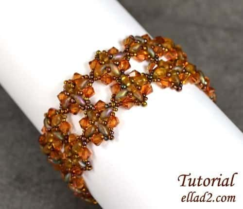 Kralen patroon Shimmering Fall armband