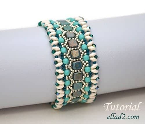 Kralen-patroon-Honeycomb-armband-Ellad2