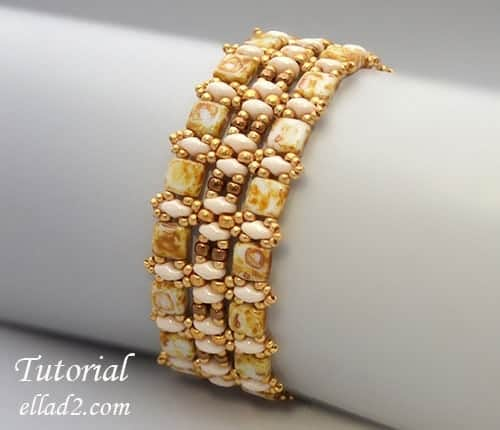 Kralen-patroon-Champagne-armband-Ellad2