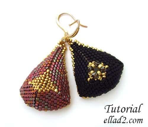 Kralen Tutorial Oorbellen Triangular Drop voon Ellad2