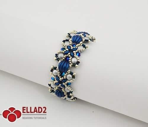 Kralen Tutorial Nevis Armband met Crescent Kralen voon Ellad2