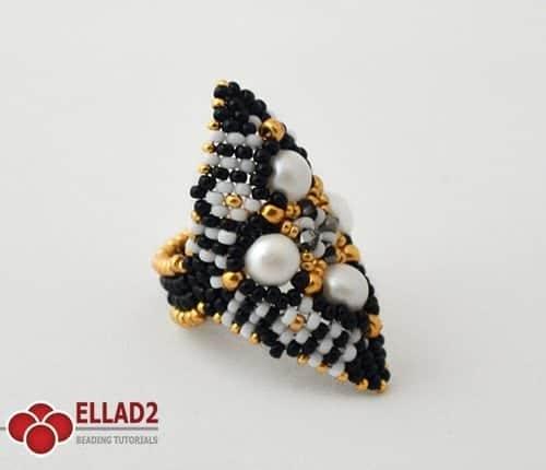Kralen Tutorial Zazu Ring voon Ellad2