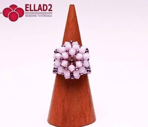 Kralen tutorial Alabaster Ring voon Ellad2