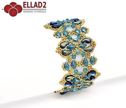 Kralen tutorial Alaska Armband met Zoliduo en Diamonduo kralen voon Ellad2