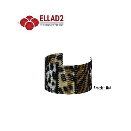 Kralen Patroon dierenprint patronen Armband 4 voon Ellad2