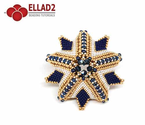 Kralen Tutorial Polaris 3D Ster en peyote stitch voon Ellad2