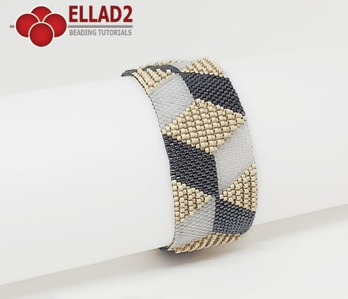 Kralen Patroon Armband 14 peyote stitch