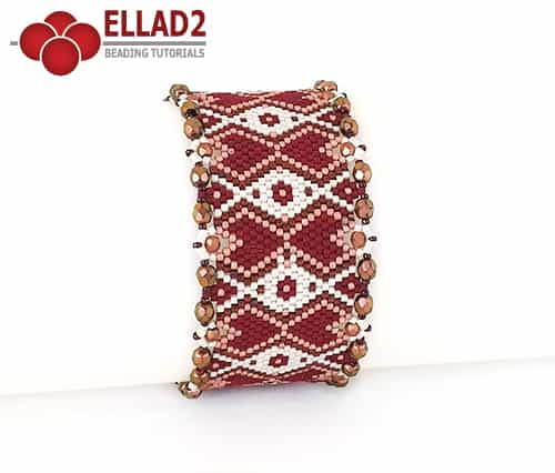 Kralen Patroon Armband peyote stitch von Ellad2