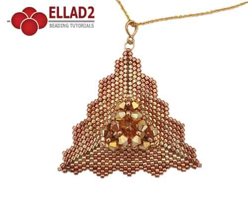 Kralen Tutorial Maima driehoekige Hanger voon Ellad2