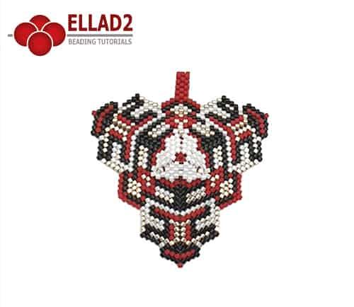 Kralen Patroon Driehoek No3 van Ellad2