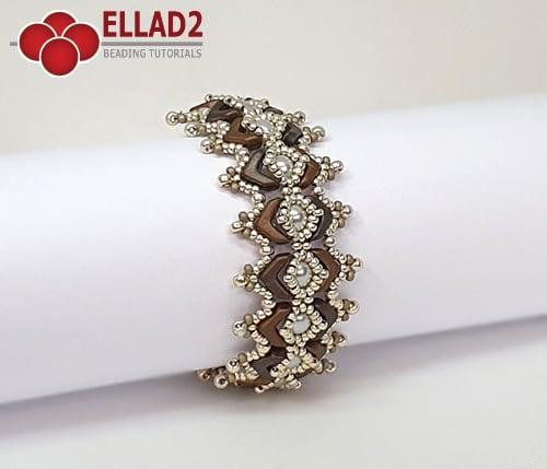 Kralen tutorial Manola Armband van Ellad2