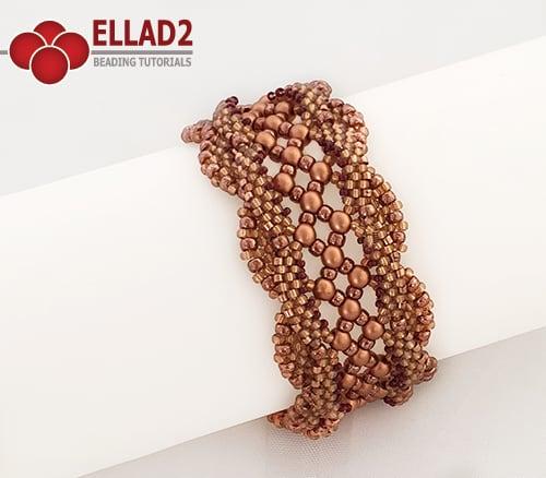 Rijgpatroon Valencia armband van Ellad2