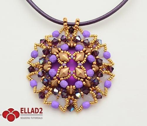 Tutorial aiko pendant beading tutorials and patterns by ellad2 beading tutorial pendant with diamonduo beads aloadofball Choice Image