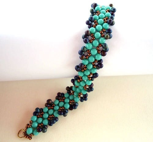 aruba blue bracelet beading projects and patterns by ellad2
