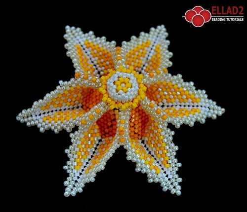 Tutorial Aviana Flower Pendant Beading Tutorials And Patterns