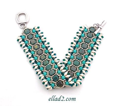 honeycomb bracelet beading patterns and tutorials by ellad2