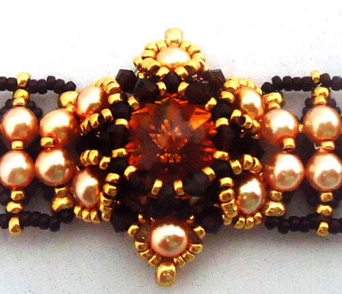 bracelet connecté tutorial marigold bracelet beading pattern by ellad2 8489