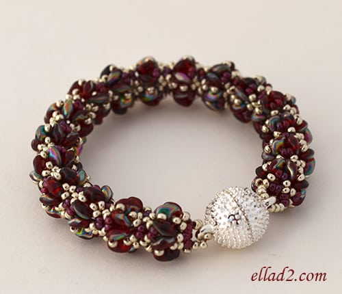Bracelet Merlot - Beading Patterns and Tutorials by Ellad2