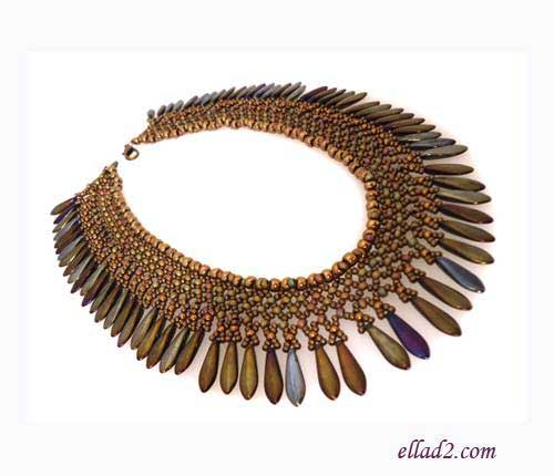 Beading Tutorial Ayita Necklace by Ellad2