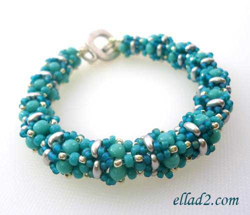 Beading Tutorial Babiole Bracelet by Ellad2