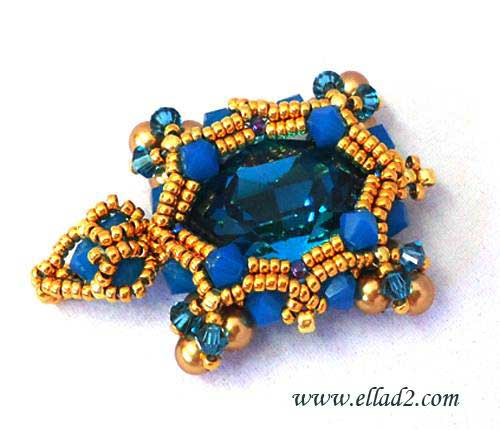 Beading Tutorial Turtle Pendant by Ellad2