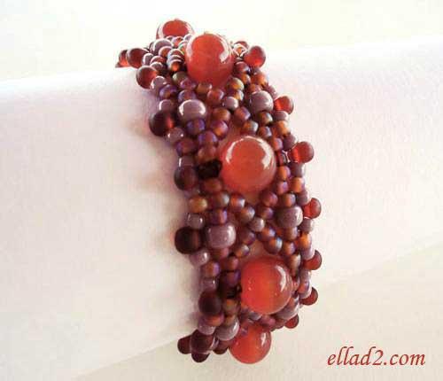 Beading Tutorial Carnelian Bracelet by Ellad2