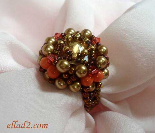 Beading Tutorial Expectation Ring by Ellad2