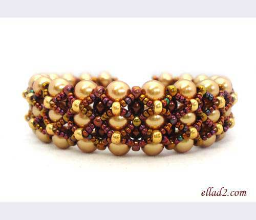 Beading Tutorial Fenestra Bracelet by Ellad2