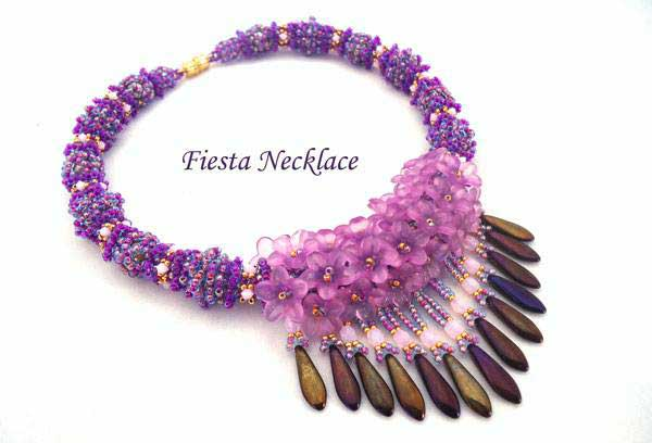 Beading Tutorial Fiesta Necklace by Ellad2