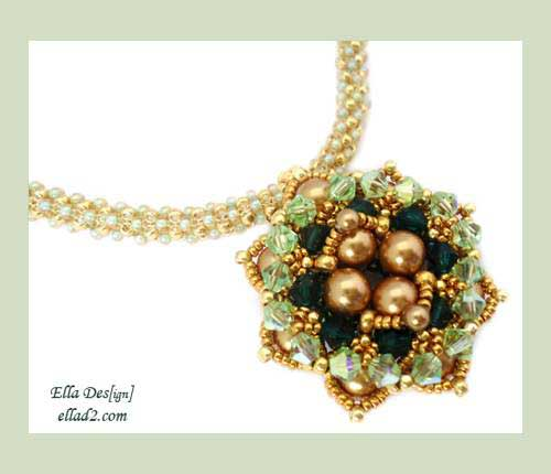 Beading Tutorial Ninouk pendant by Ellad2